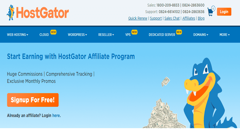 hostgator top web hosting affiliate services