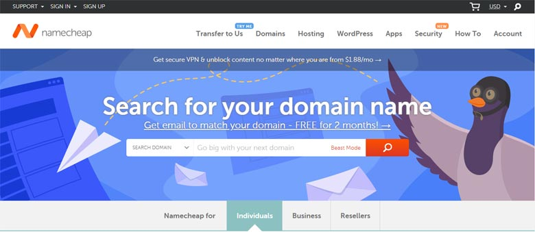 namecheap similar competitors godaddy